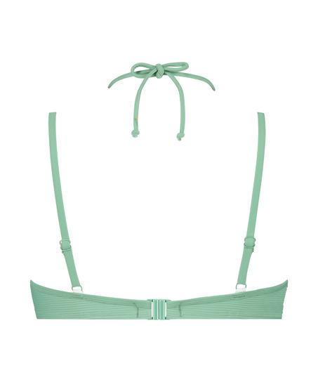 Sienna padded underwired bikini top, Green
