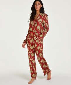 Graphic Peacock Tall Pyjama Pants, Pink