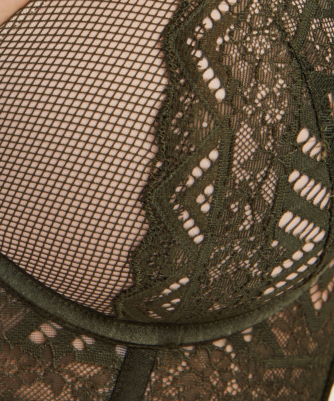 Rabella padded longline underwired bra I AM Danielle, Green, main