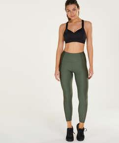 HKMX High waisted sports leggings Shine On, Green