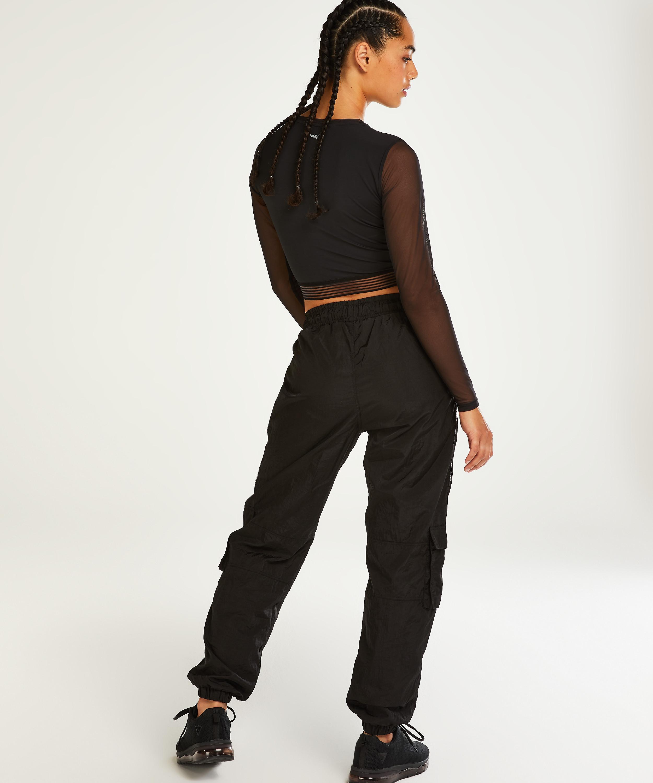 HKMX Crop top, Black, main