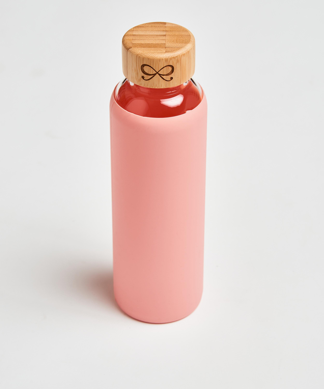 Glass water bottle, Pink, main
