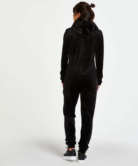 Velvet onesie, Black
