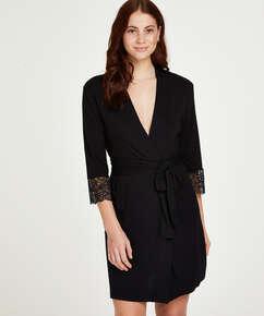 Vera Lace Kimono, Black