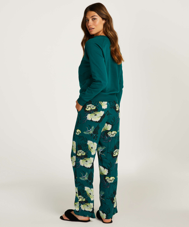 Woven pyjama bottoms, Grey, main