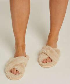 Velours slippers, Beige