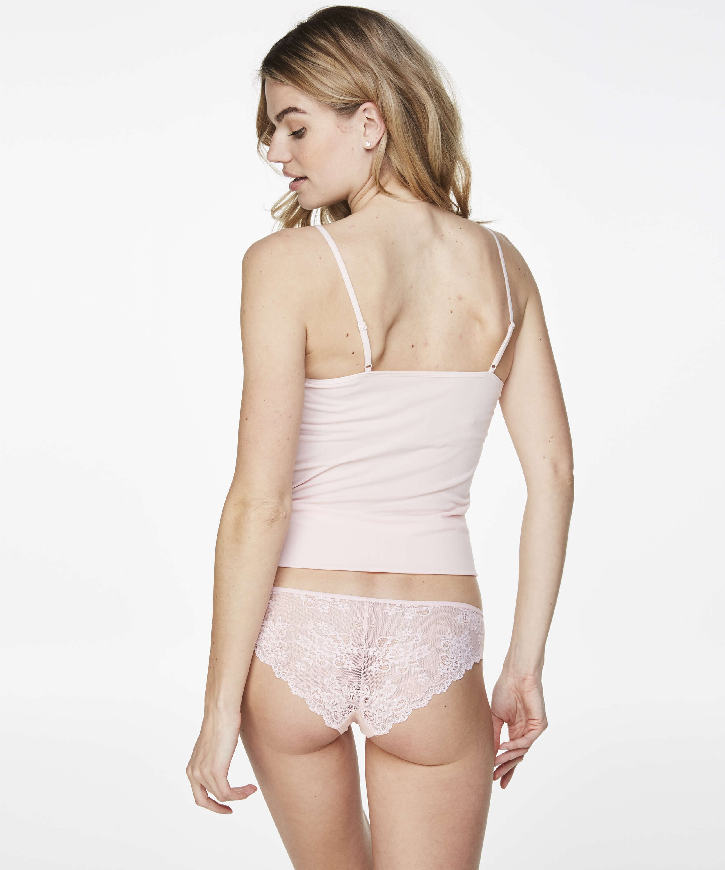 Invisible Lace Back Brazilian, Pink, main