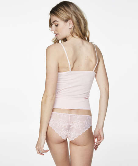 Invisible Lace Back Brazilian, Pink