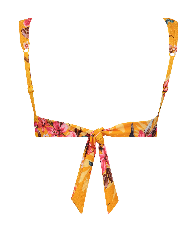Orchid triangle bikini top , Yellow, main