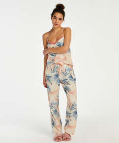 Pyjama bottoms Bird Leaf, Beige