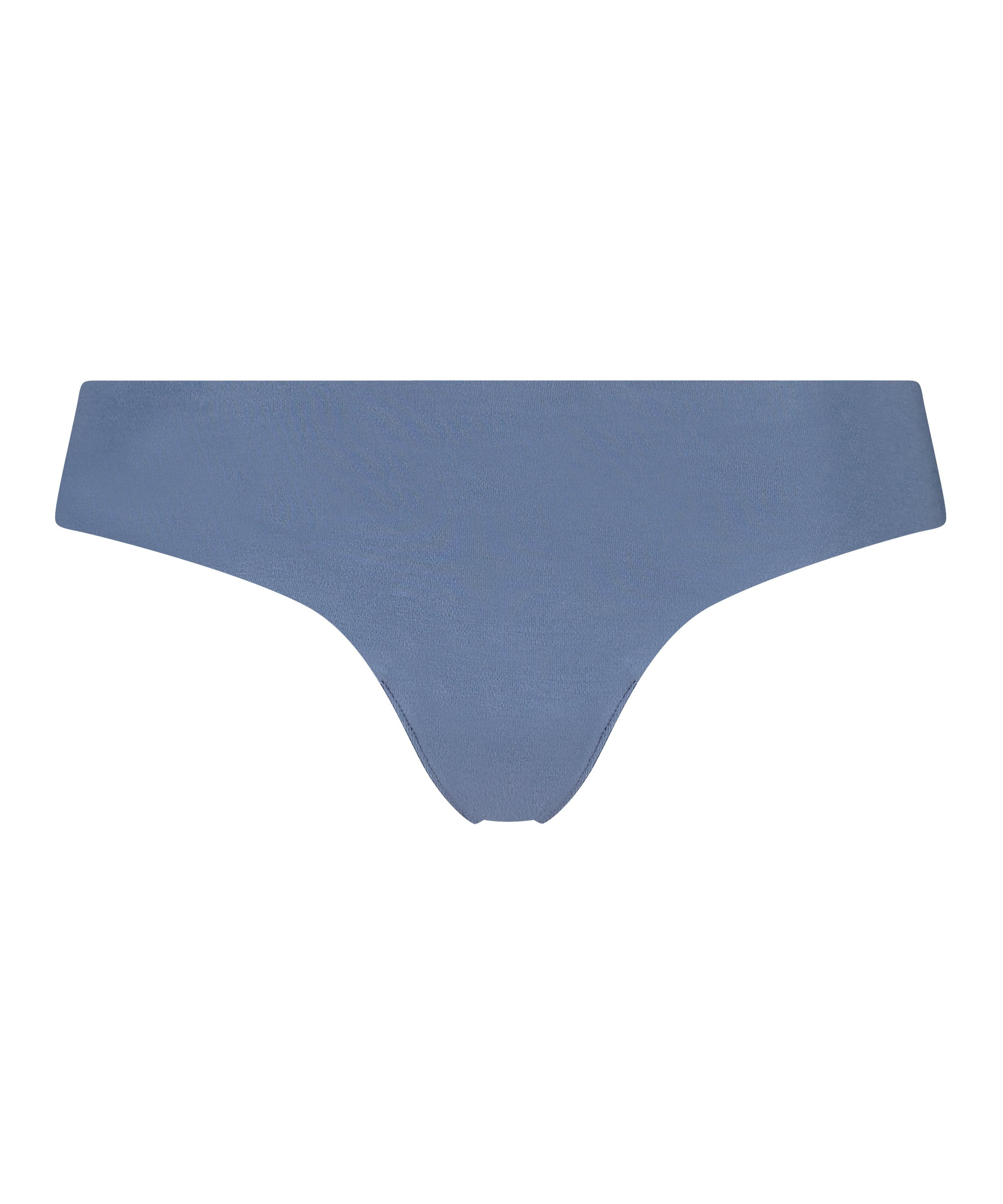 Invisible cotton thong, Blue, main