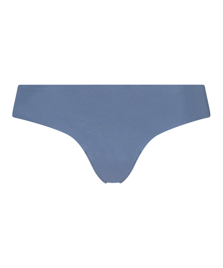 Invisible cotton thong, Blue