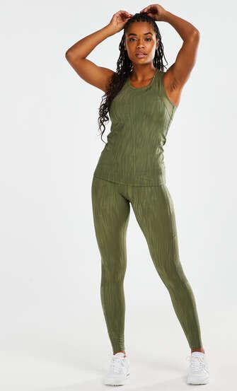 HKMX Sport slim fit tank top, Green