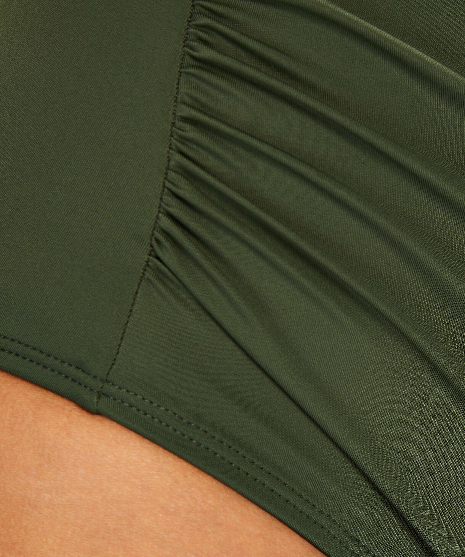 Luxe high-cut bikini shorts , Green, main