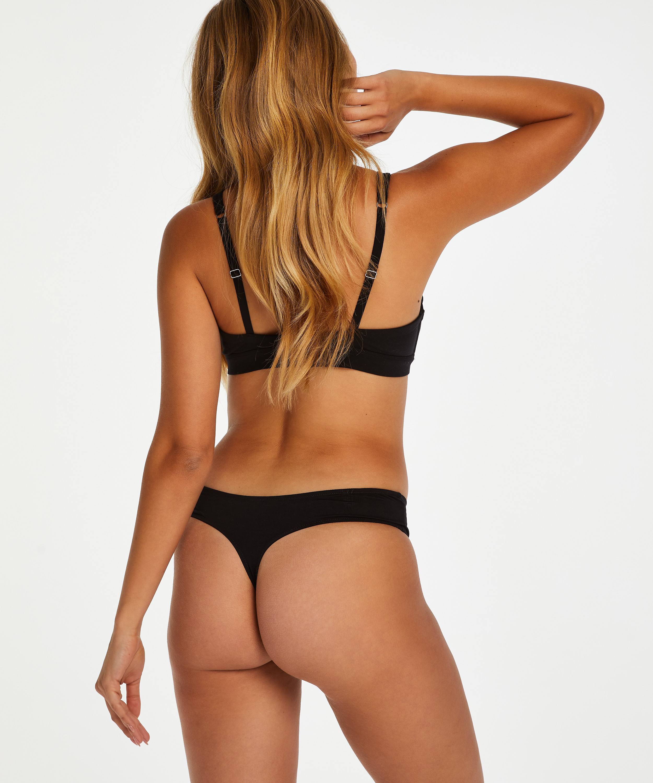 Soft non-padded non-underwired bra, Black, main