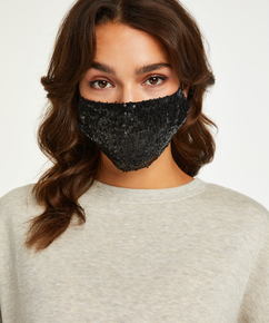 Facemask Sequin, Black