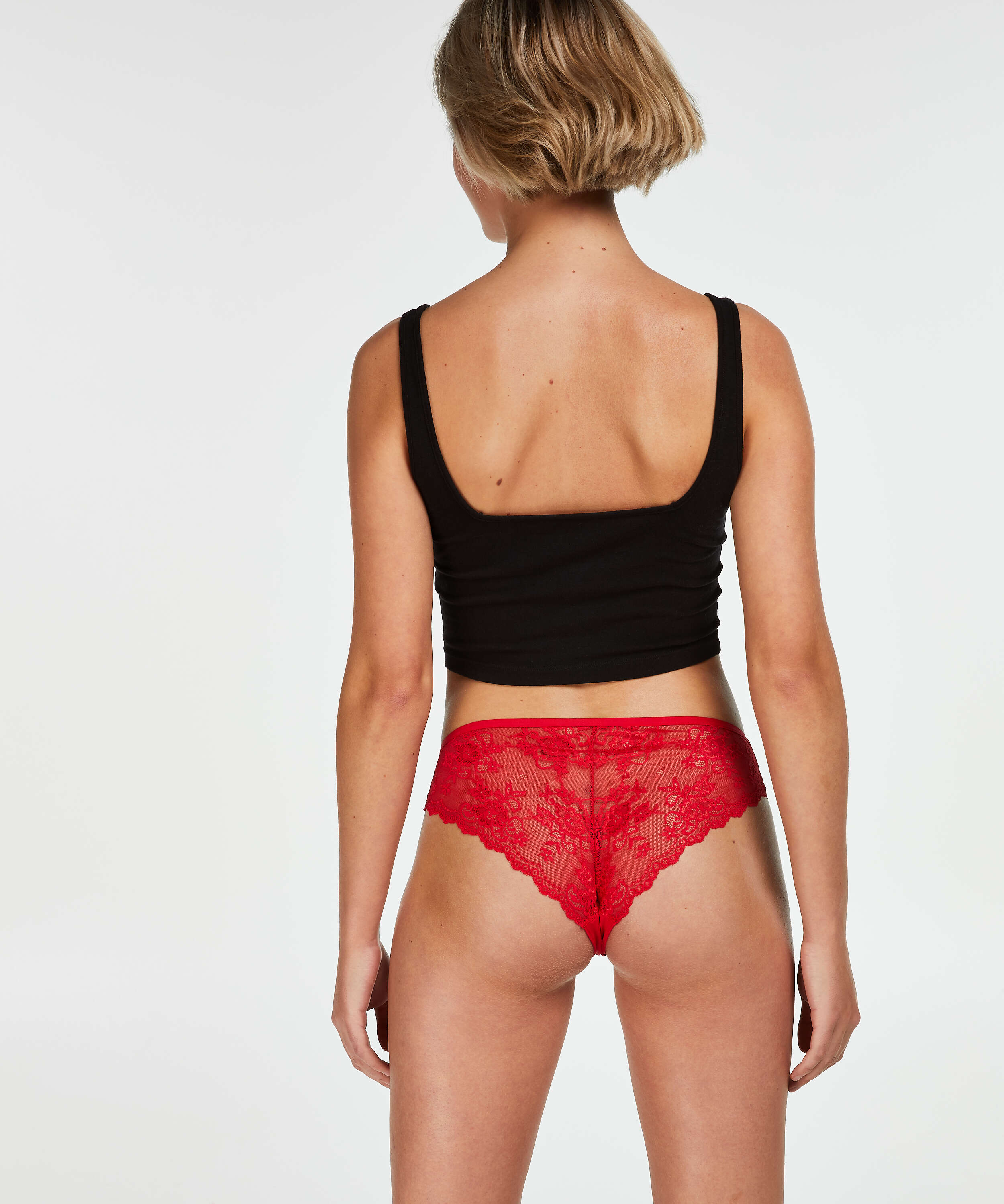 Invisible Lace Back Brazilian, Red, main