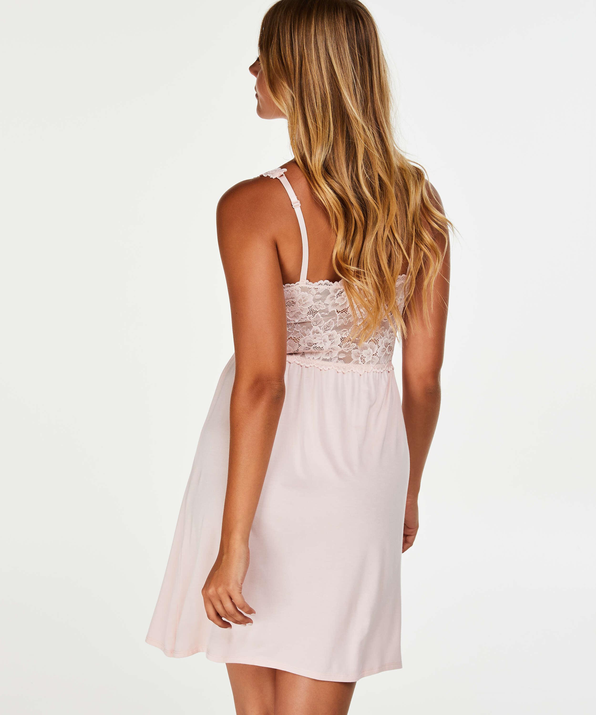 Modal Lace Slip Dress, Pink, main