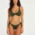 Tonal non-padded underwired bikini top, Green