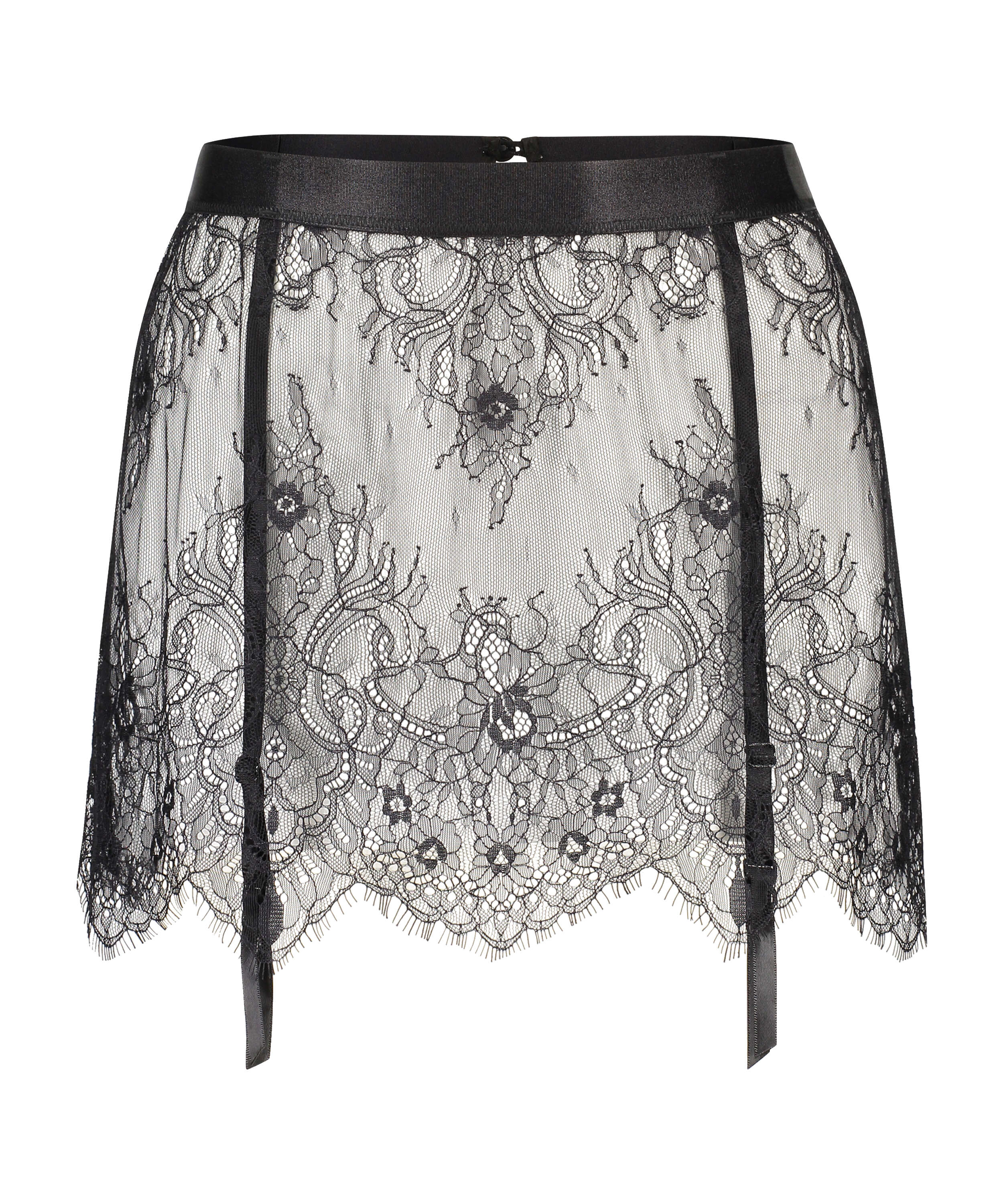 Lace Skirt, Black, main