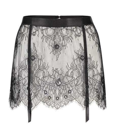 Lace Skirt, Black