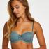 Sierra padded strapless underwired bra, Green