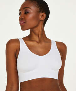 Seamless Crop Top, White