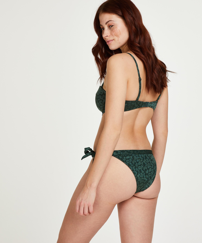 Tonal Leo Padded push-up underwired bikini top Cup A - E, Green, main