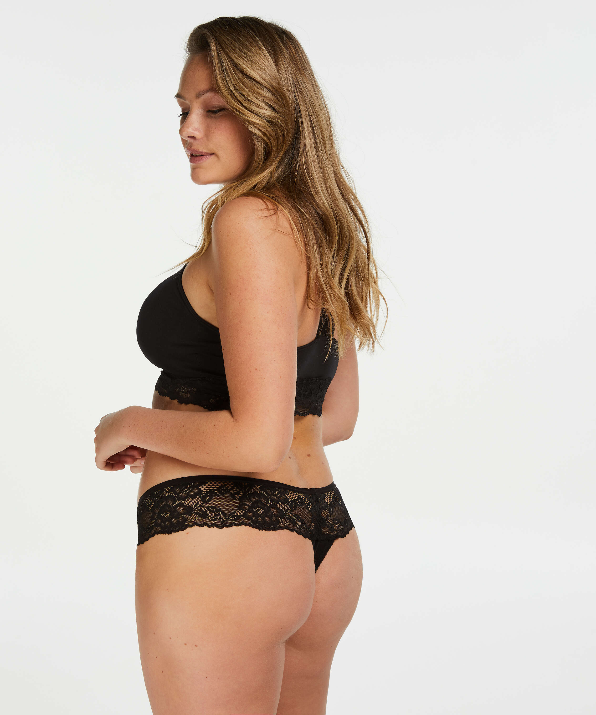 Bianca Boxer Thong, Black, main