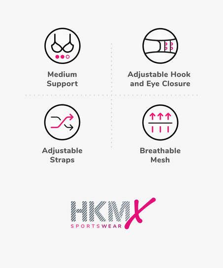 HKMX Sports bra The All Star Level 2, Grey