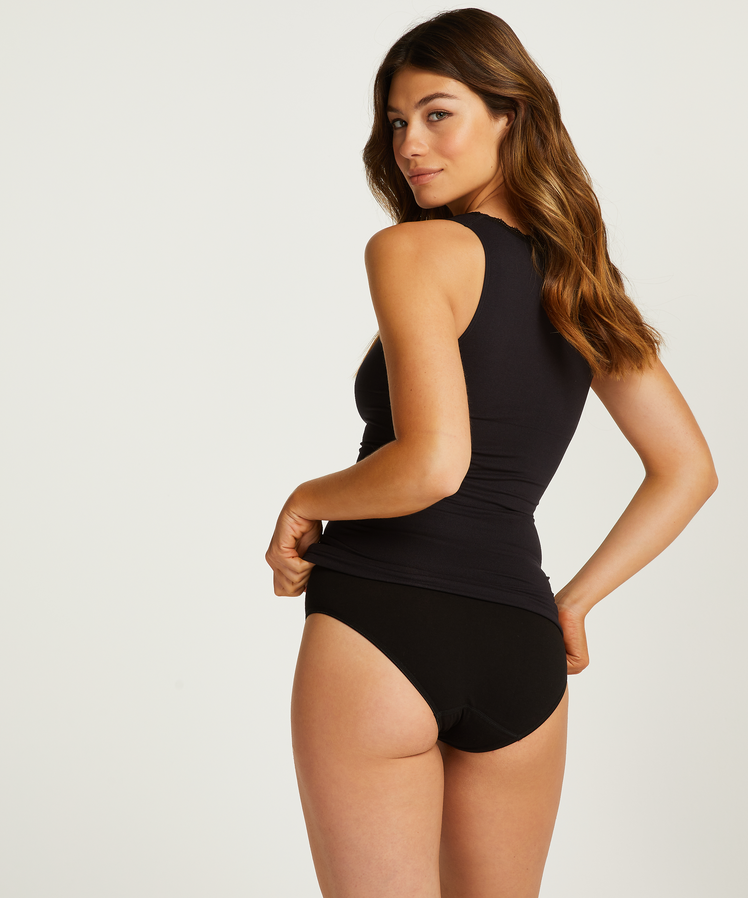 Firming top - Level 2, Black, main