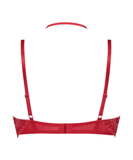 Coco Padded Longline Underwired Bra, Red