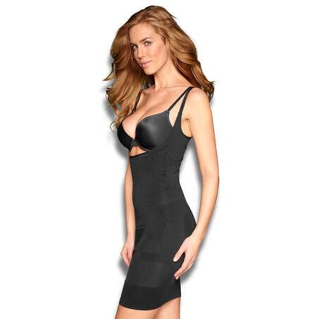 Figure-control dress, Black