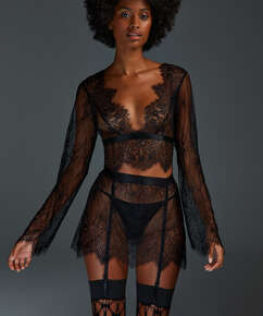 All-over Lace Top, Black