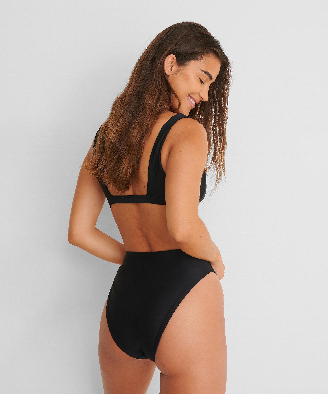 High-cut bikini bottoms Black HKM x NA-KD, Black, main