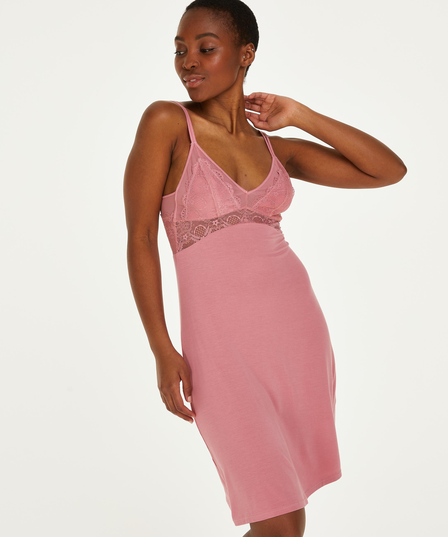 Coco jersey slip dress, Pink, main