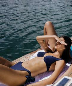 Non-padded underwired bikini top Harper, Blue