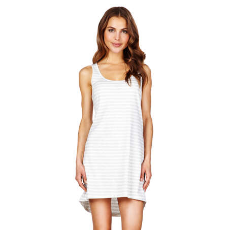 Nightshirt Stripe sleeveless, Grey