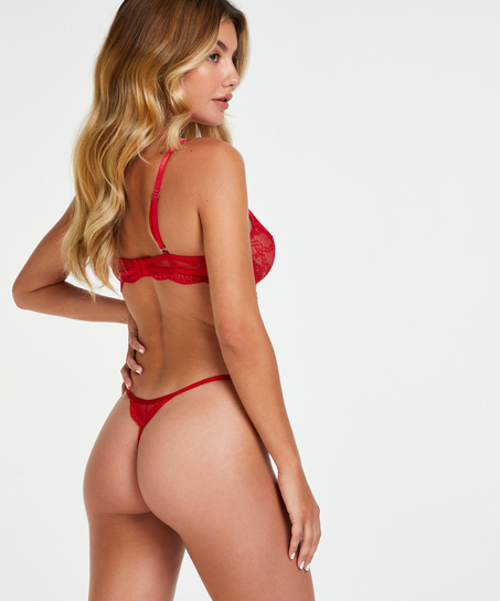 Isabelle non-padded underwired bra, Red