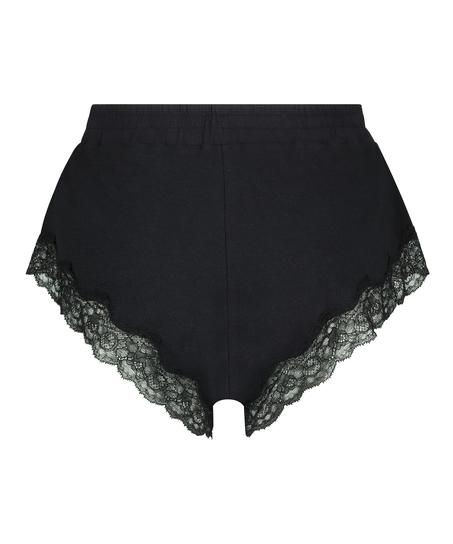 Shorts rib lace Mia, Black
