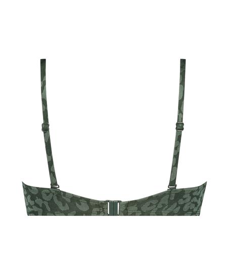 Tonal Leo Padded push-up underwired bikini top Cup A - E, Green