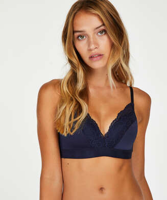 Sophie Padded Non-Underwired Bra, Blue