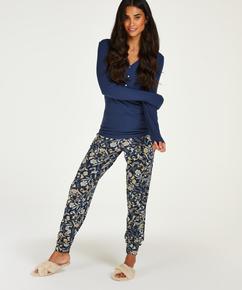 Jersey Pyjama Pants, Blue