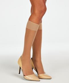 2 pairs of knee-high socks, Beige