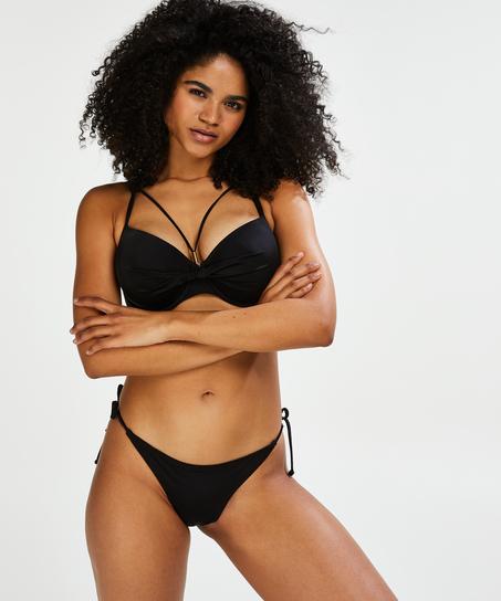 Sunset Dream Padded Underwired Bikini Top, Black
