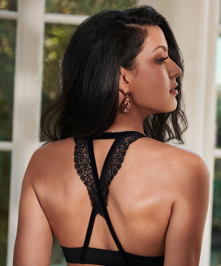 Raine padded underwired push-up bra Rebecca Mir, Black
