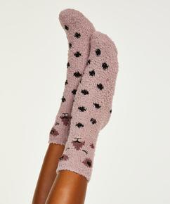 2 Pairs Cosy Socks, Pink