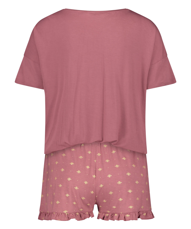 Short Pyjama Set, Pink, main