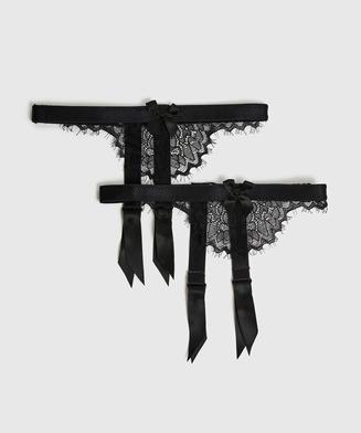 Suspender cuffs, Black
