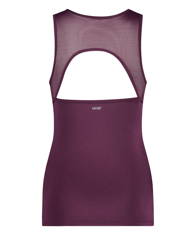 HKMX Sport slim fit tank top, Purple, main